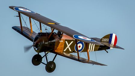 The Sopwith Camel made its air show debut on Sunday at Old Warden. Picture: Nick Blacow