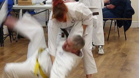 The Japanese art of Jujitsu on display at the Shefford Tai Chi festival. Picture: Ian Deavin
