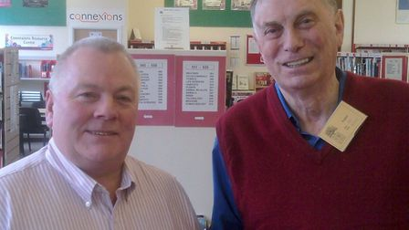 Ken Maynard, right, with former pupil Ian Payne in 2011. Picture: Ian Payne