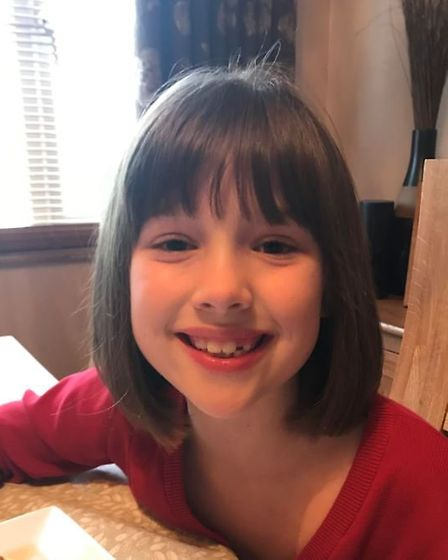 Gracie Ellwood has donated her hair to the Little Princess Trust. Picture: Kelly Ellwood.