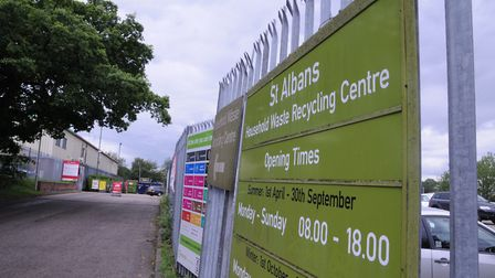 St Albans recycling depot. Picture: Krishan Bhungar.