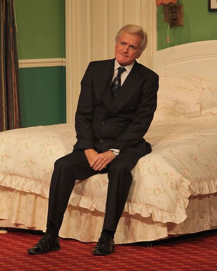 Paul Lavers playing Ernest in Bedroom Farce at the Gordon Craig Theatre in Stevenage in 2016 [Pictur
