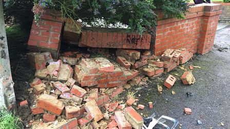 The scene after the crash in Holwell. Picture: The Comet