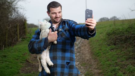 Rob Hodgkins managed to rescue a lamb that had been seperated from its mum thanks to his use of the