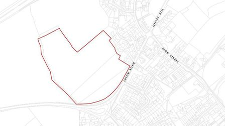 The site north of Luton Road in Offley where Gladman Developments hopes to build 70 homes. Picture: