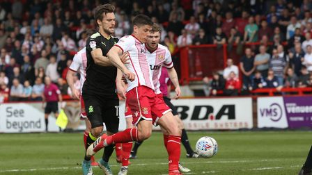 Alex Revell scored all three as Stevenage beat Exeter City in their final home league game of the se