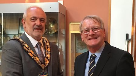 Councillor Michael Scott (left) has been appointed the new mayor of Sandy, replacing councillor Coli