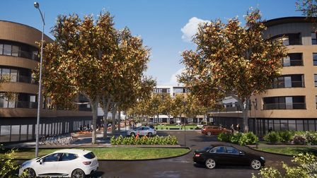 An artist's impression of the proposed Kenilworth Close redevelopment. Picture courtesy of Stevenage