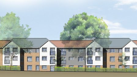 An artist's impression of how the new sheltered housing scheme in Hitchin will look. Picture: Church