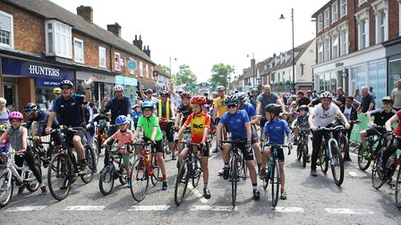 Stevenage Tour Series 2018: All set for the community ride prior to the professional racing.Pict