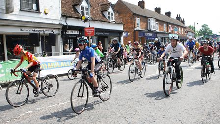 Stevenage Tour Series 2018. The community ride in High Street.Picture: Karyn Haddon