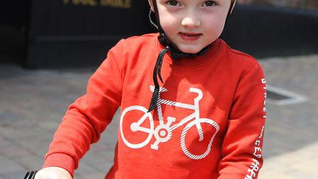 Stevenage Tour Series 2018: Three-year-old Jack Paterson on his bike.Picture: Karyn Haddon