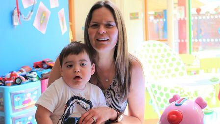 Jenny Alger is delighted to have day and night support available for her son, Jacob. Picture: Keech