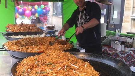 There was plenty of food to go around at the festival as stalls were open offering something to suit