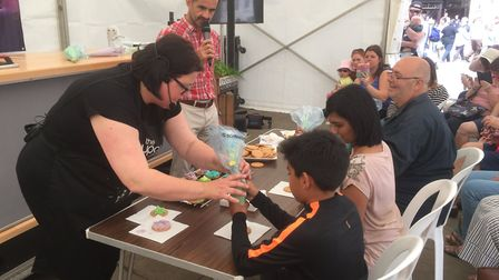 The Cupcake Company were offering cake and biscuit decoration workshops at the Food & Drink Festival