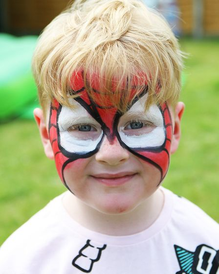Five-year-old Charlie Myott with a painted face.Picture: Karyn Haddon
