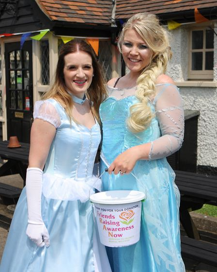Kasia and Marion fundraising for Friends Raising Awareness Now.Picture: Karyn Haddon