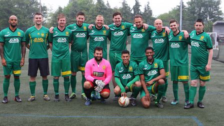 The Hitchin Old Boys team at the Eden Prowse cystic fibrosis charity match.Picture: Karyn Haddon