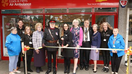 EHAAT's Hitchin shop being officially opened on May 16 by Deputy Lord Lieutenant of Hertfordshire Pa