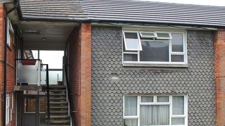 One of the blocks of flats in Chells that is to be revamped. Picture: Stevenage Borough Council