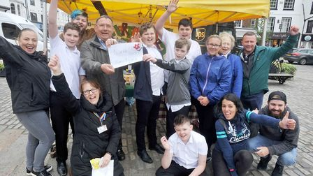 Boys from the Brandles School in Baldock have been raising money for the North Herts Santuary in Hit