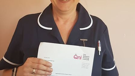 Sarah O'Hare has been recognised for her work as Sandy and Biggleswade community nursing sister with