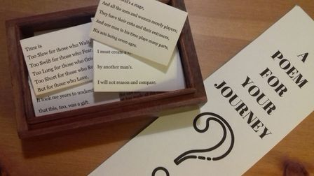 A poetry box for commuters has been added to the ticket office at Biggleswade train station. Picture