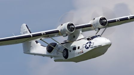 Consolidated PBY Catalina was a flying boat used by the American Navy in the Second World War. Pictu