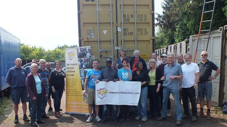 Just be a Child volunteers loaded a 40ft container bound for Kenya, where it will be transformed int