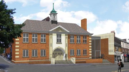 2012: The original plan for the town hall and museum, at this point including 14 but not 15 Brand St