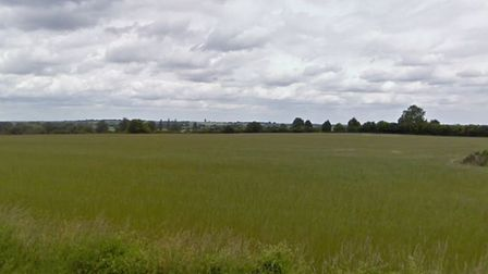 The site north-east of Priors Hill in Pirton. Picture: Google Street View
