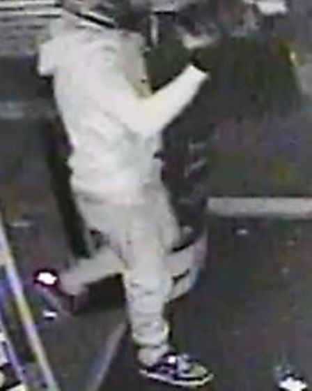 Police want to talk to this person after a ram raid on Game in Stevenage town centre. Picture: Herts