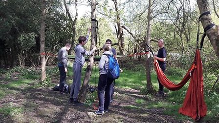 Bushcraft Project allowed the boys to develop their nature and survival skills. Picture: Brandles Sc