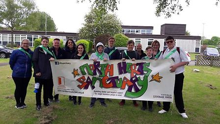 Another community fundraising initiative they took on was for the Herts Sanctuary in Hitchin. Pictur