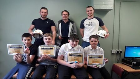 Willmott Dixon ran a computer coding course, teaching the boys skills in technology. Picture: Brandl