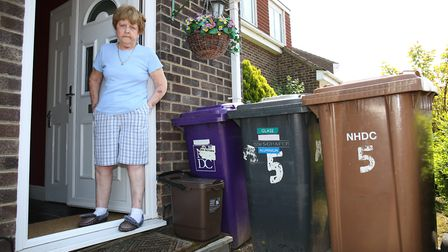 Royston resident Mary Hall who has parkinson's disease has been having problems with her bin collect