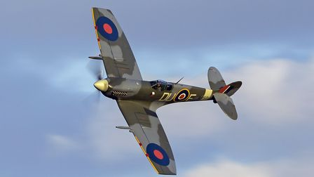The Shuttleworth Collection's Supermarine Spitfire finished off the show. Picture: Darren Harbar