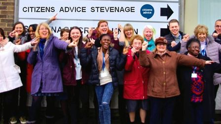 Volunteers at Citizens' Advice Stevenage collectively give up 330 hours a week to help others. Pictu