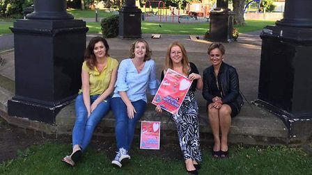 Samantha Bednarz, Jackie Maclean, Jackie Brown and Manjit Moore of the One Love One Hitchin team. Pi