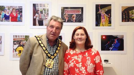 Chairman of NHDC Councillor John Bishop and Letchworth Festival organiser Hilary Kemp are all set fo