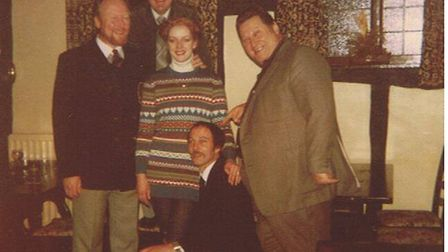 Frank Watson, on knee, in his younger days with Tracey Bone and Charles Bone. Picture: Courtesy of J