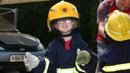 Thomas Dabrowski, five, at Hitchin Fire Station Open Day. Picture: CALLUM ALLCOCK-GREEN