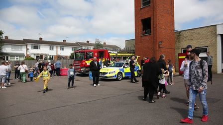 Visitors to the Hitchin Fire Station Open Day. Picture: CALLUM ALLCOCK-GREEN
