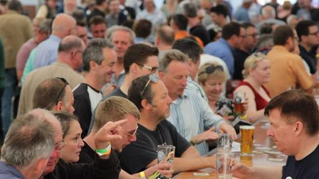 Crowds flocked to the Hitchin Beer and Cider Festival. CREDIT HBF Twitter