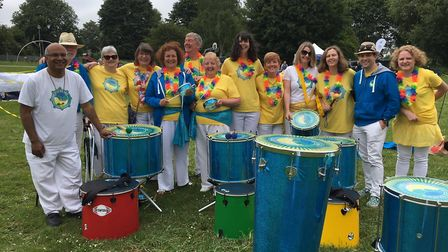 Garden City Samba getting ready to bring the sounds of Rio to Ransom's Rec. Picture: Vicky Wyer
