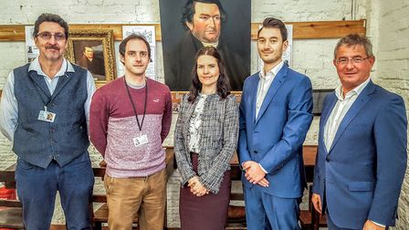 Andy Gibbs and Sam Mason from the British Schools Museum and the Lyndhurst Financial Management team