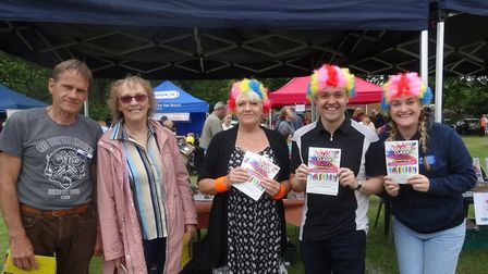 MP Stephen McPartland visted the Garden House Hospice Care stall while at Stevenage Day on Sunday. P