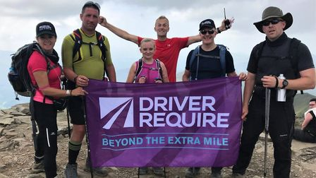 The team at the peak of Snowdon. Picture courtesy of Sarah Fowke