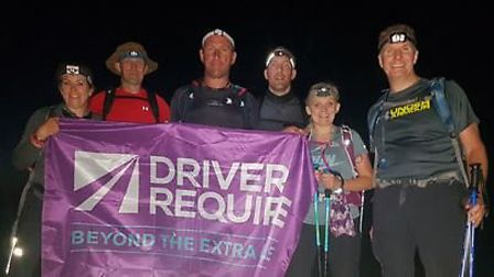 The team reached the summit of Scafell Pyke in the dark. Picture courtesy of Sarah Fowke