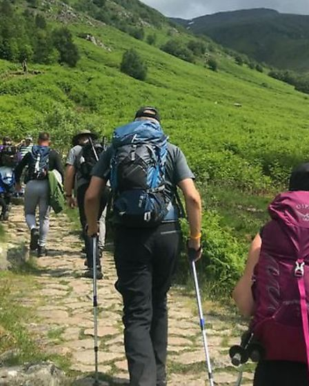 Staff from Stevenage's Driver Require have successfully completed the Three Peaks Challenge. Picture